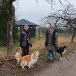 Gabi mit Monty und Sanni mit Kalle